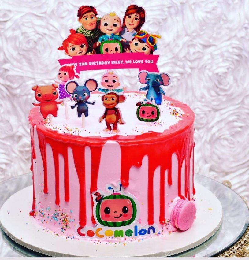 Cocomelon Cake, Birthday Cake