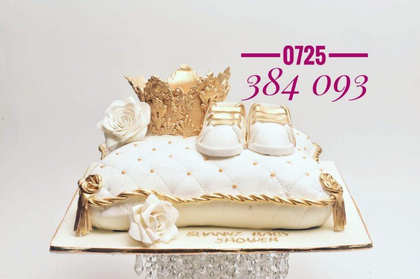 Baby Shower cake, Pillow cake
